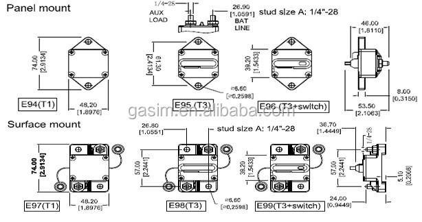 Car/boat/bike Audio Fuse Automotive Circuit Breaker 80amp