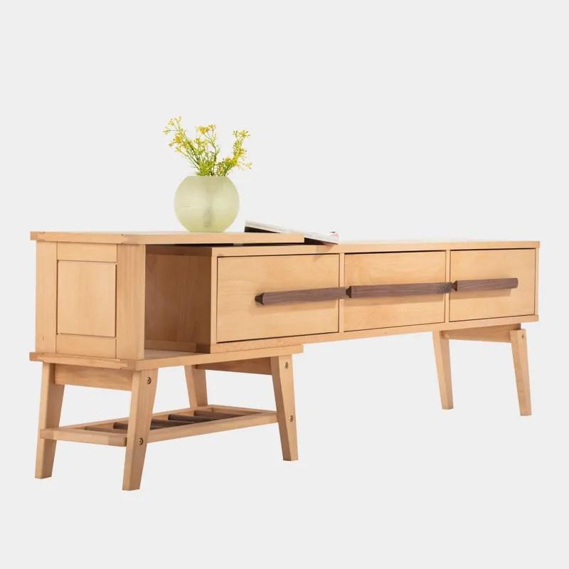 ensemble plat en bois de hetre meuble tv style japonais 1 piece buy meuble tv simple meuble tv en bois meuble tv meuble tv japonais product on