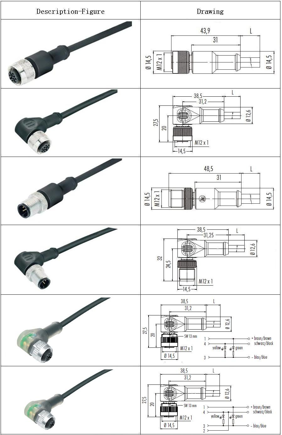 hight resolution of straight cable circular apex amphenol m12 ip67 5 pin waterproof connector buy 4 pin auto 8