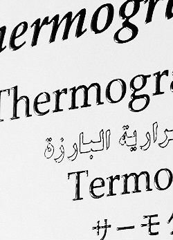 Thermographic Powder And Flocking For Raised Printing