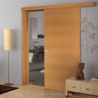 Natural Interior Solid Wood Single Panel Sliding Door ...