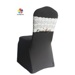 Spandex Chair Covers Cheap Patio Repair Vinyl Strap Wholesale Classic Wedding Cover With Lace Band White
