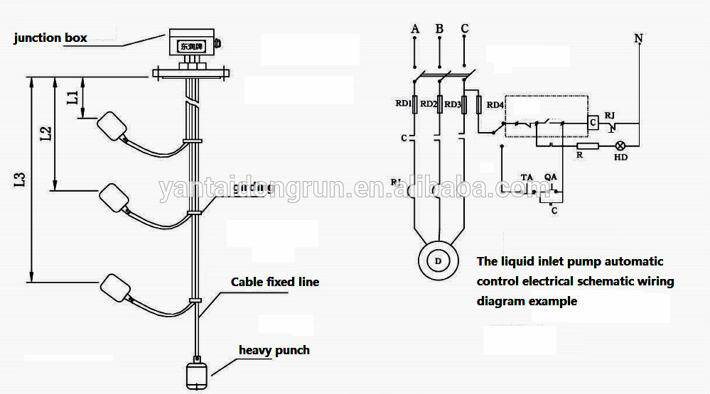 Usk-99l Hot Sales Cable Float Level Switch Water Level
