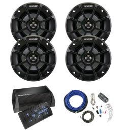 get quotations kicker 40pxibt502 2 channel portable bluetooth amplifier w remote 4 x kicker ps42  [ 1600 x 1600 Pixel ]