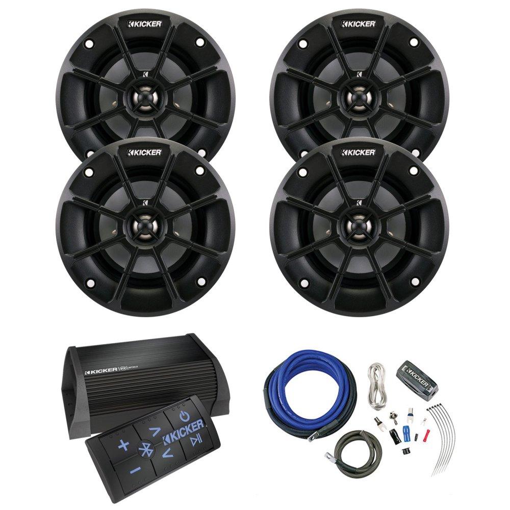 medium resolution of get quotations kicker 40pxibt502 2 channel portable bluetooth amplifier w remote 4 x kicker ps42