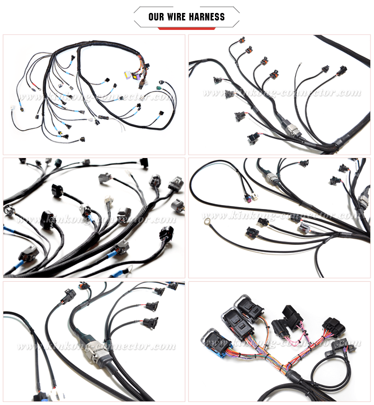 Automotive Wire Harness With 3 Pin Connector For Toyota