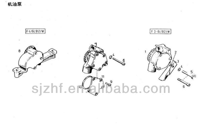 Deutz Fl912 Fl913 Diesel Engine Spare Parts Small Oil Pump