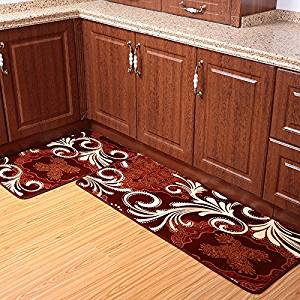kitchen rug set cabinet grades cheap sets find deals on line at get quotations ustide 2 piece coffee totem coral fleece bathroom super soft