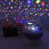 New Rotation Night Lights Lamps Star Sky Projector