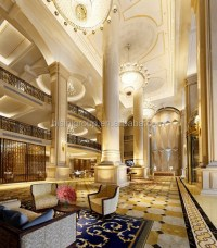 Luxury Elegant Palace Hotel Design Of 3d Rendering Plan ...
