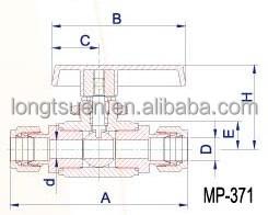 MP-371/MP-372/MP-373 Taiwan high performance lok tube
