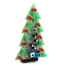 get quotations daoki christmas tree led flashing light diy kit red green flash circuit led green red flash [ 1024 x 1024 Pixel ]
