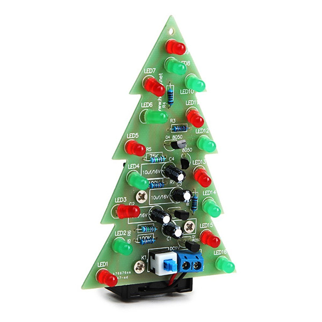 hight resolution of get quotations daoki christmas tree led flashing light diy kit red green flash circuit led green red flash
