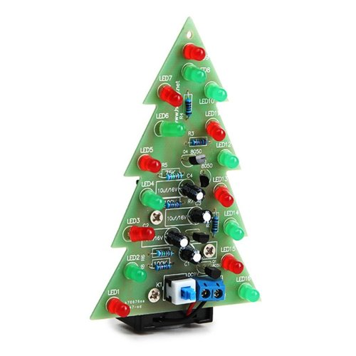 small resolution of get quotations daoki christmas tree led flashing light diy kit red green flash circuit led green red flash