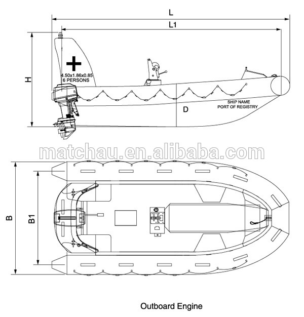 Solas Approval Rigid Hull Inflatable Fender Fast Rescue
