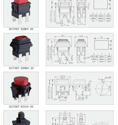 dpst spst double pole single pole latched momentary push button switches with  [ 2095 x 3000 Pixel ]