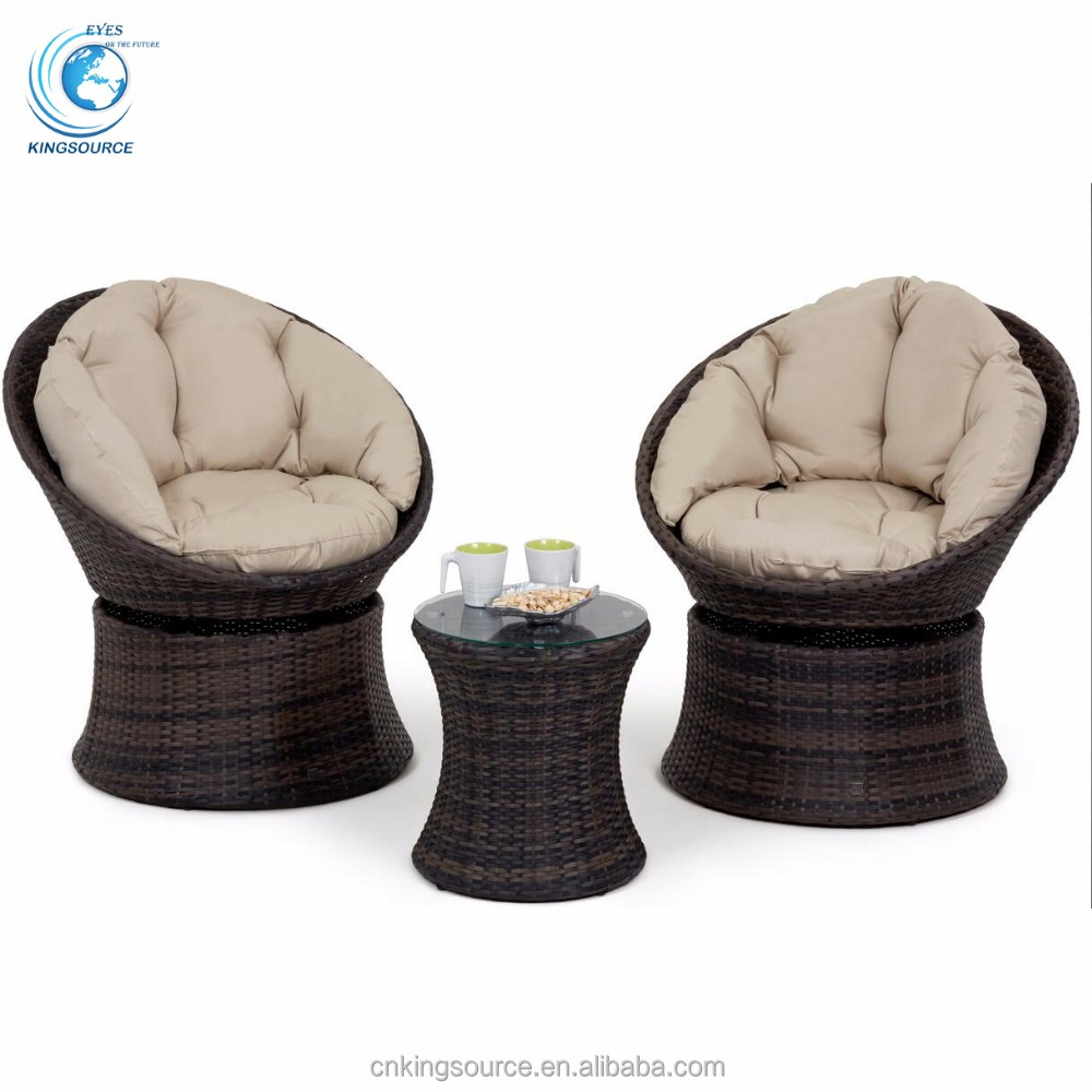 Rattan Egg Chair Set Outsunny Flat Rattan Garden Furniture Set 3 Pcs Bistro Swivel Egg Chairs Buy Egg Chairs 3 Pcs Bistro Swivel Egg Chairs 3 Pcs Bistro Chairs Product
