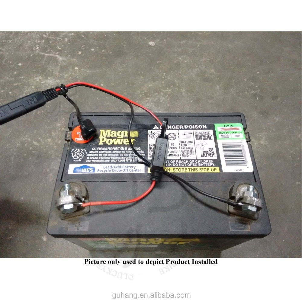 medium resolution of custom 12v 6v wire harness 2 pole trailer plug in bland fuse connector