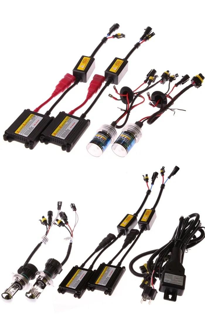 medium resolution of factory led light bulb slim 12v hid xenon kit ballast 35w 55w 75w h4 h7 h11