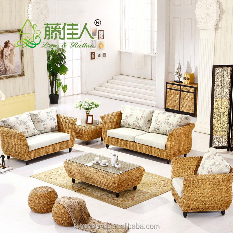 Classic Compact Seagrass Sofa Sets