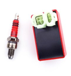 tc motor red 6 pin wires ac cdi box 3 electrode spark plug for [ 1001 x 1001 Pixel ]