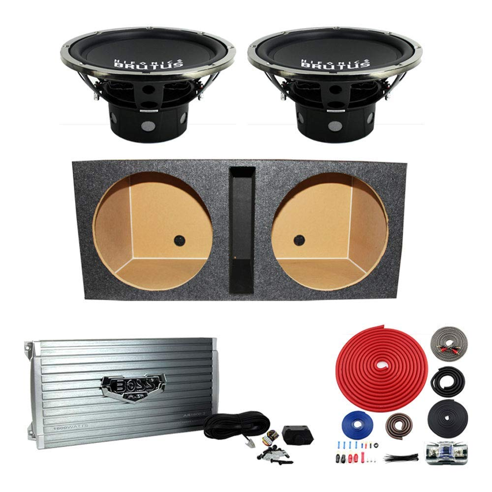 hight resolution of get quotations hifonics brutus 15 1200w subwoofer pair w box 2 channel