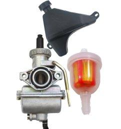 get quotations safercctv pz20 carburetor with gas fuel petrol tank and fuel filter for most 50cc 70cc 90cc [ 1000 x 1000 Pixel ]