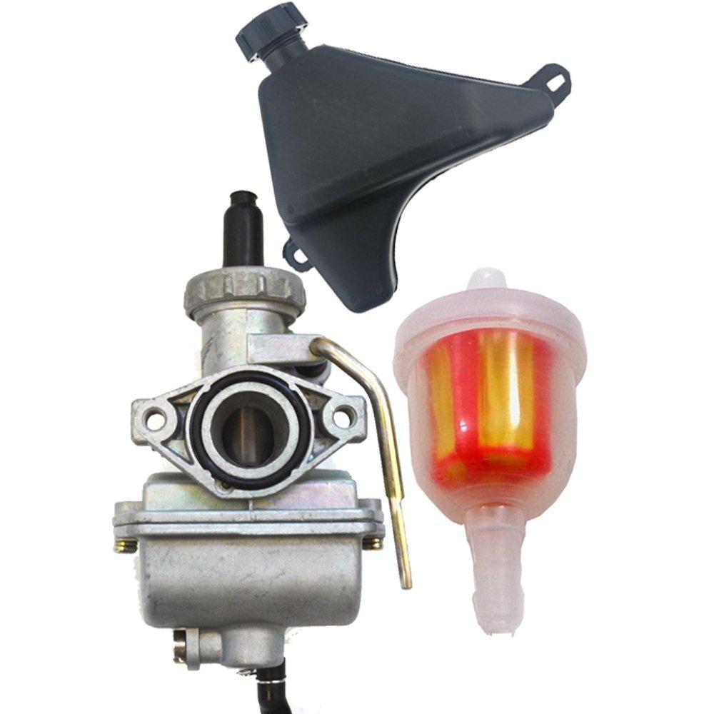 medium resolution of get quotations safercctv pz20 carburetor with gas fuel petrol tank and fuel filter for most 50cc 70cc 90cc