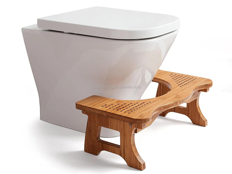 tabouret de toilette en bois massif brosse siege de salle de bains en bambou de luxe antiderapant repose pieds pour adultes enfants et tout petits