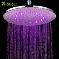 Shower Head Led 3 Color Square Temperature Control Three