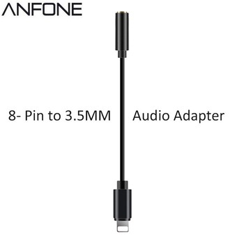 High Quality Wire Earphone 3.5mm To 8 Pin Audio Adapter