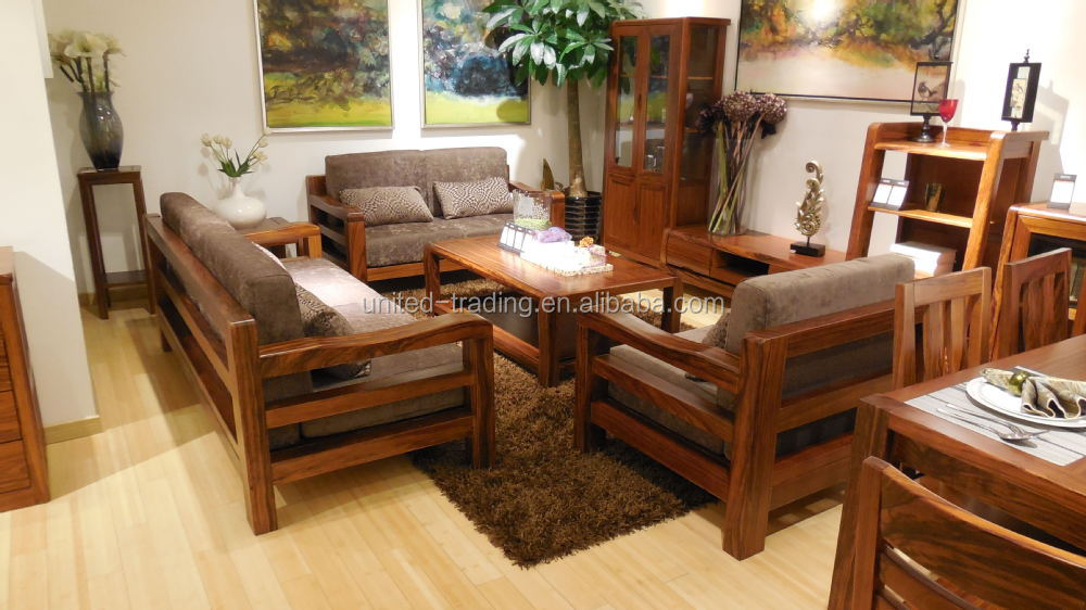 Home Furniture Living Room Solid Wood Sofa  Buy Divan