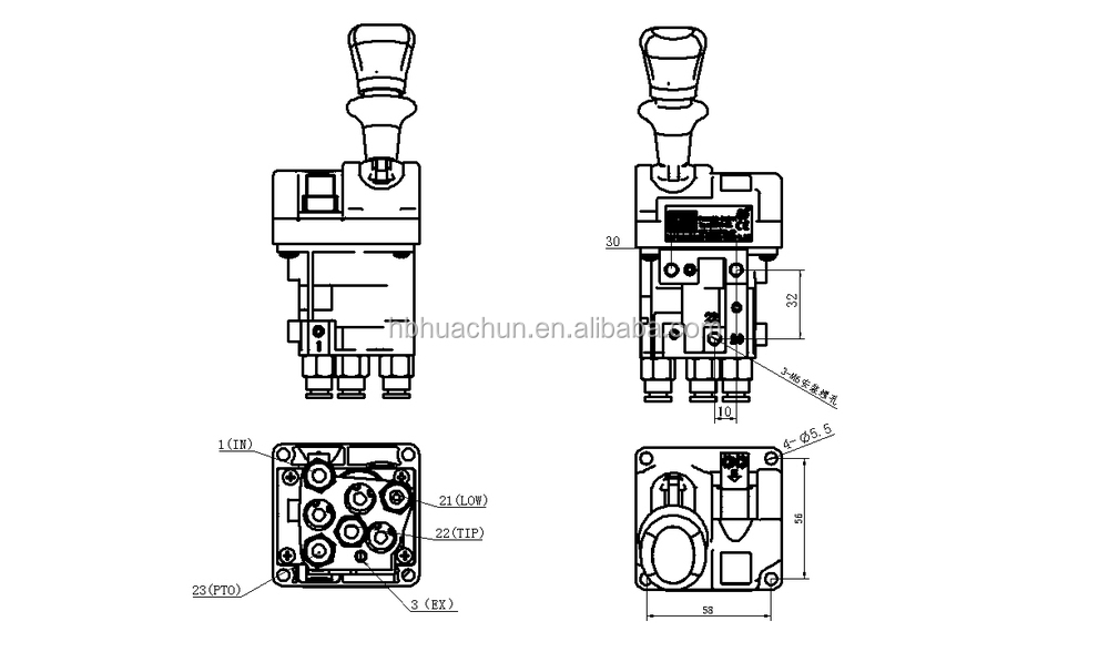 Dump Truck Hydraulic Valve,14750667h,Sell Manual Valve