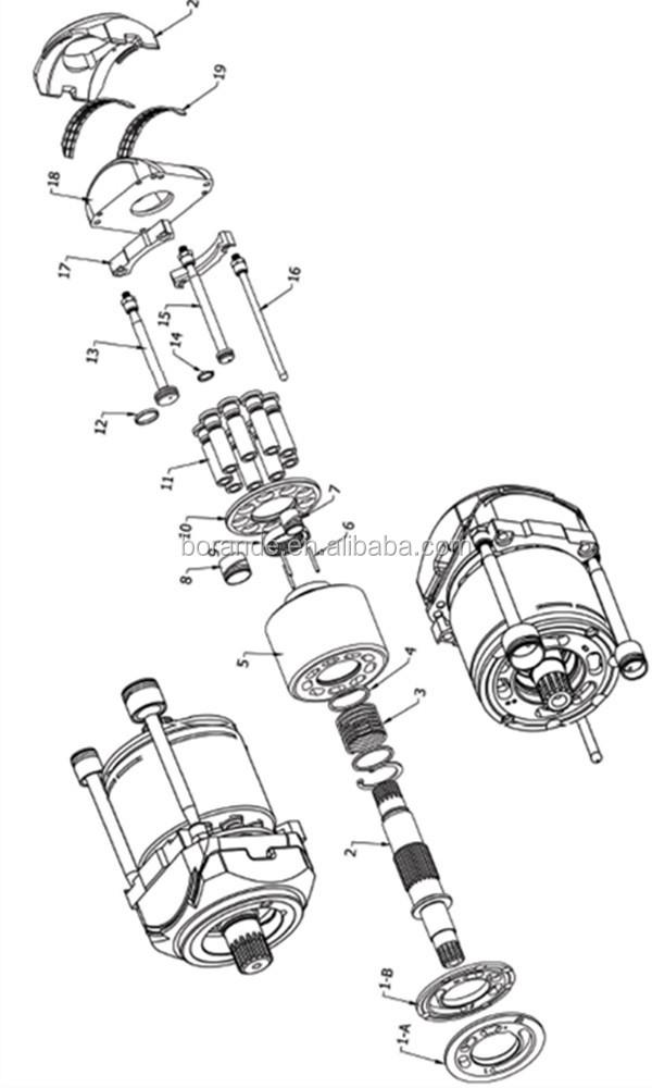 Hidrolik Pompa Yedek Parçaları Linde Hpr130 Pompa