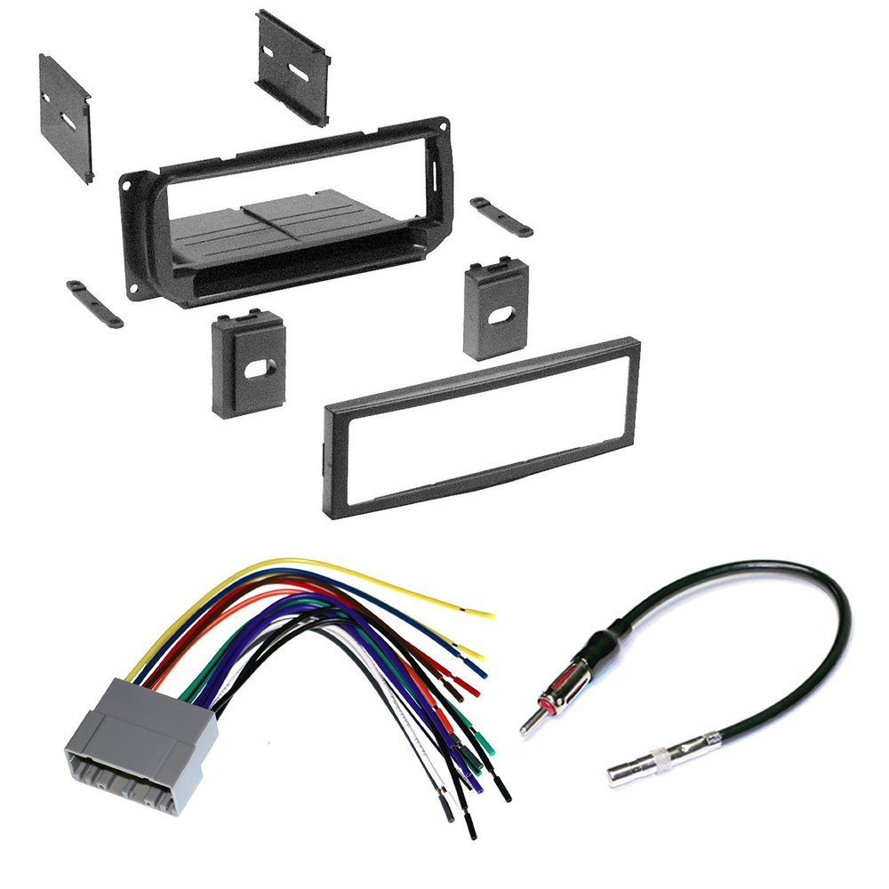 hight resolution of car stereo radio kit dash installation trim bezel w antenna wiring harness for select chrysler jeep and dodge vehicles 2002 2010