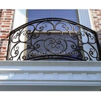 Antique Outdoor Decorative Wrought Iron Balcony Railing