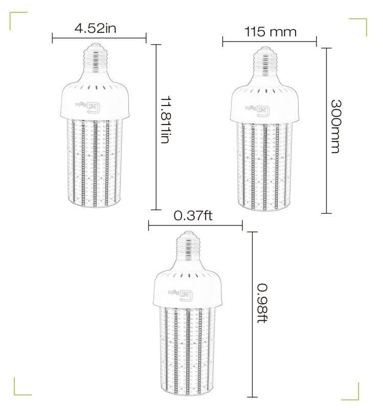 400W-500W HPS Parking Lot Street Light UL&DLC 120W LED