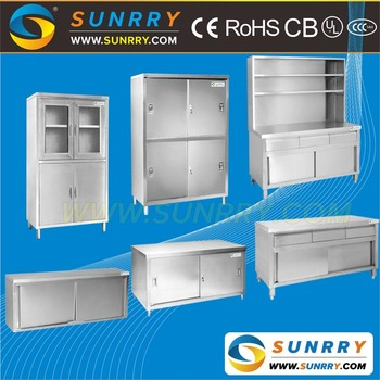 Guangzhou Commercial Latest Modular Stainless Steel Kitchen Cabinets
