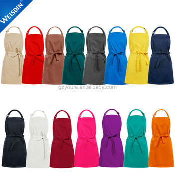 china factory multicolor unisex cooking shop household tablier polyester cotton cheap bulk wholesale kitchen aprons