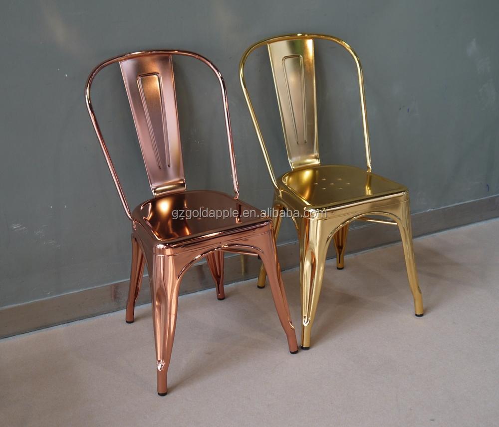 Wholesale Cheap Steel Industrial Gold Chair Luxury Metal