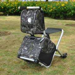 Fishing Chair Hand Wheel Big Round Swivel New Arrival Multi Functions Bag Warm Keep With Wheels Outdoor Hiking Camping Travelling