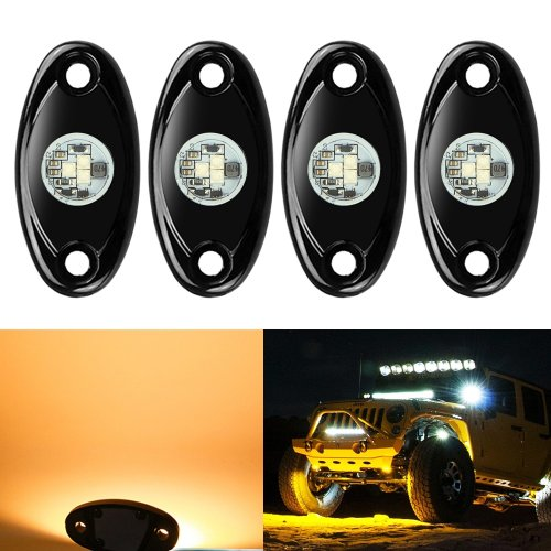 small resolution of get quotations 4 pods led rock lights kit ampper waterproof underglow led neon trail rig lights for