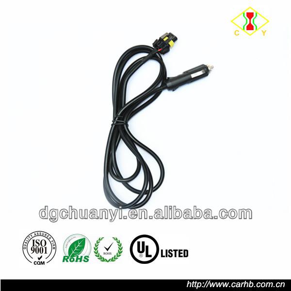12v 24v Extension Cord With Cigarette Lighter Plug And