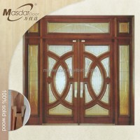 Used Exterior Solid Wooden French Doors For Sale