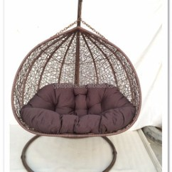 Indoor Hanging Egg Swing Chair Swivel Recliner Cheap Price Outdoor Patio Rattan Wicker With Iron Stand