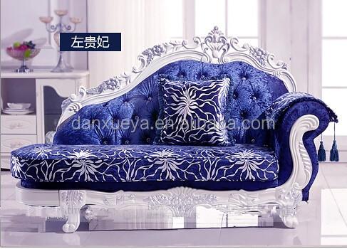 Luxury Living Room FurnitureRoyal ElegantBlue Velvet