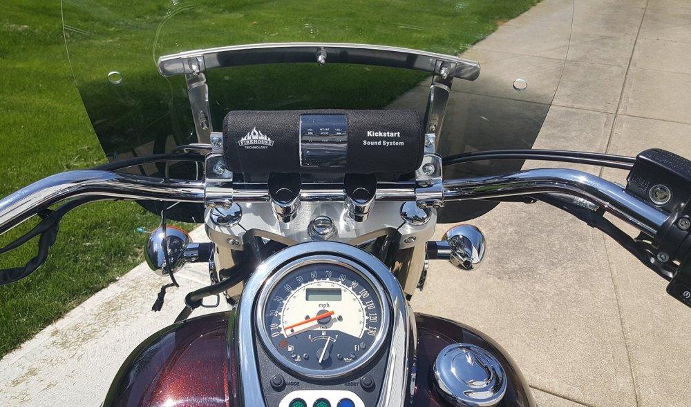 medium resolution of get quotations kickstart silver motorcycle atv speaker stereo bluetooth w full wiring harness dust cover