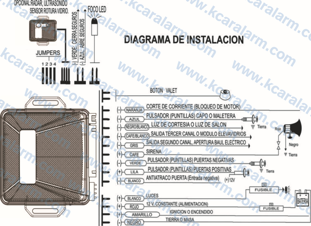 giordon car alarm system wiring diagram panel box universal one way with remote control central door locking - buy ...