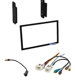 stereo dash kit wire harness and antenna adapter for installing a new double din radio for some nissan 200sx altima frontier maxima sentra  [ 1200 x 1426 Pixel ]