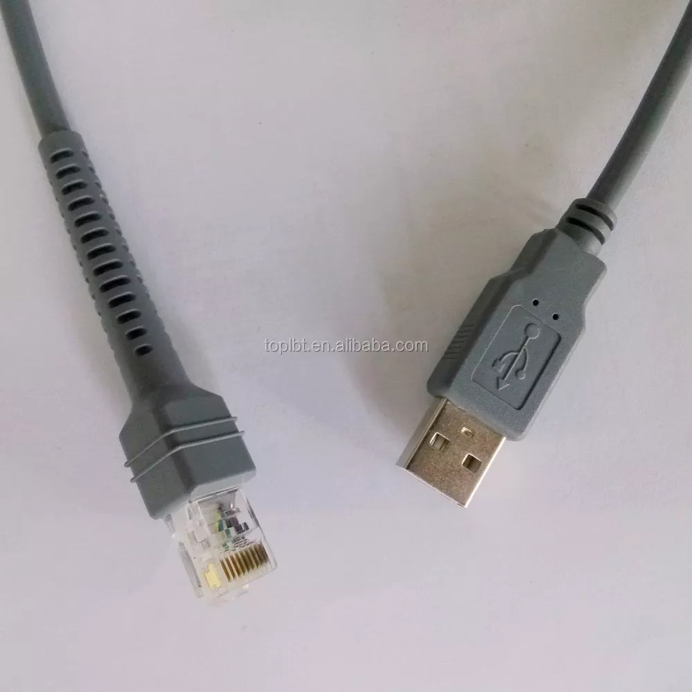 hight resolution of usb to rj45 cable for symbol barcode scanner ls4278 ls2208 2208ap